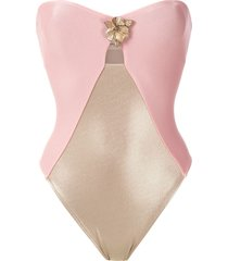 adriana degreas metallic orquídea swimsuit - pink