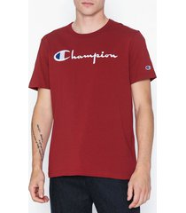 champion reverse weave crewneck t-shirt t-shirts & linnen red