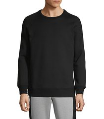 crewneck cotton blend sweater