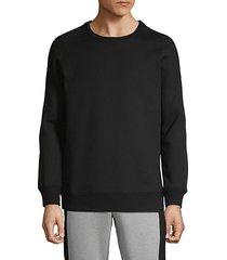 crewneck cotton blend sweater