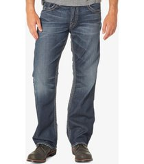 men's dark indigo rinse straight leg jeans