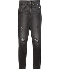 7 for all mankind women's high-rise ankle skinny jeans - retro black - size 24 (0)