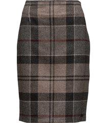 nebit pencil skirt knälång kjol brun barbour