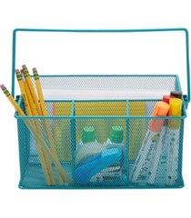 mind reader metal mesh multi-purpose storage basket organizer with handle, utensil holder