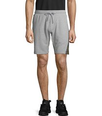 two-tone fleece shorts