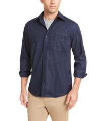 pendleton men's fitted elbow-patch trail wool shirt