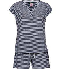 lrl dolman v-neck boxer pj set pyjama blauw lauren ralph lauren homewear