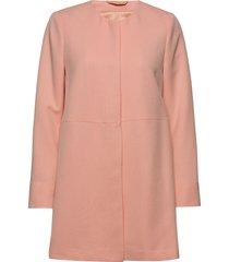 coats woven dunne lange jas oranje esprit collection
