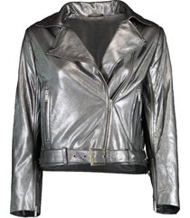daphne cropped metallic jacket