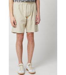 folk men's overlay shorts - stone - xl