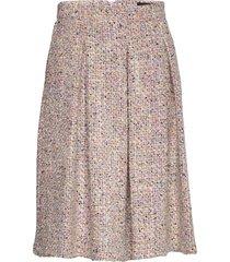 3327 - norma l knälång kjol rosa sand
