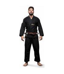 kimono jiu jitsu atama trançado classic - preto