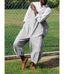 hombres overol sin mangas monos pintores pantalón mameluco ropa de trabajo casual pantalones