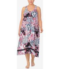 ellen tracy women's plus size sleeveless midi gown
