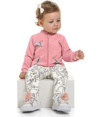conjunto rosado-blanco-negro bee loop
