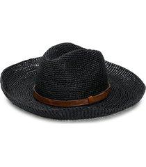ibeliv woven sun hat - black