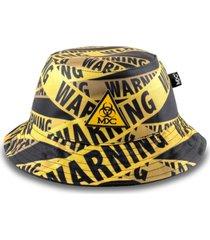 chapéu bucket mxc warning preto