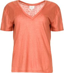 linnen t-shirt birley  oranje