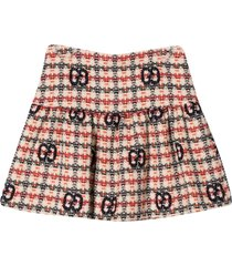 gucci skirt with multicolor logo gg