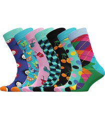 7-day gift box underwear socks regular socks multi/mönstrad happy socks