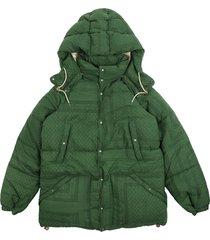 visvim bandana-print puffer jacket - green