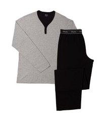 pijama masculino mash blusa manga longa e calça