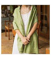 silk shawl, 'green treasure' (thailand)
