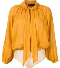 andrea marques raglan sleeves bodysuit - yellow