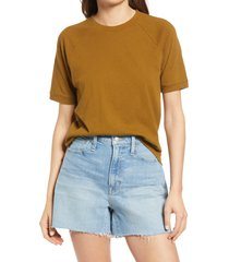 women's madewell softfade cotton raglan t-shirt, size x-large - green