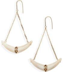 women's isabel marant boucle d'oreille horn earrings