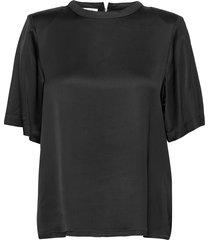 emme tee blouses short-sleeved svart designers, remix