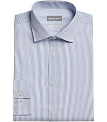 michael kors slim fit dress shirt blue stripe