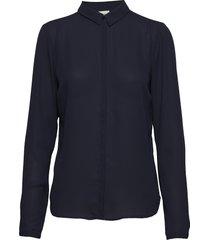 cyler collar shirt overhemd met lange mouwen blauw modström
