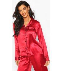 mix & match pj shirt, red
