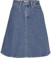 heavy indigo steffi kort kjol blå mads nørgaard
