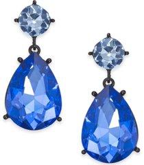 thalia sodi black-tone stone drop earrings, created for macy's
