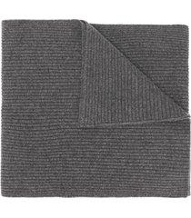 cashmere in love bondi ribbed scarf - grey