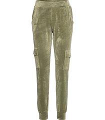 jogger velours cargo pyjamasbyxor mjukisbyxor grön hunkemöller