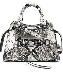 balenciaga mini neo classic tote bag - black