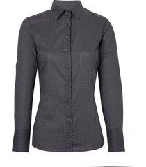camisa dudalina manga longa tricoline estampado bolso feminina (estampado, 46)