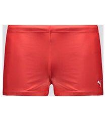 sunga boxer puma classic swim trunk vermelha