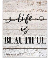 "life is beautiful wood pallet canvas art - 22"" w x 27.9375"" h x 0.875"" d"