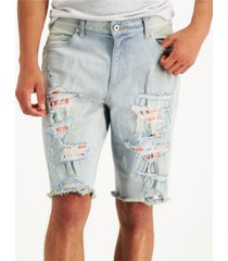 "sun + stone men's cadman denim 10"" shorts, created for macy's"