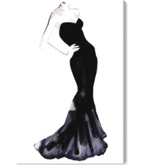 "oliver gal black dress - gill bay canvas art, 10"" x 15"""