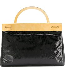 a.n.g.e.l.o. vintage cult 1960's metallic structure varnished tote -