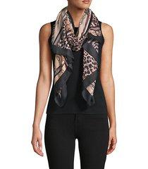 chain & animal-print scarf
