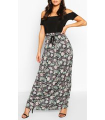 2in1 paisley bardot maxi dress, multi