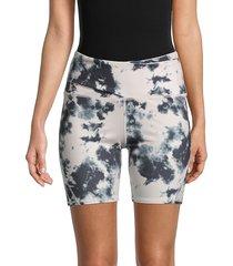 max studio women's rose african shorts - pink black - size xs