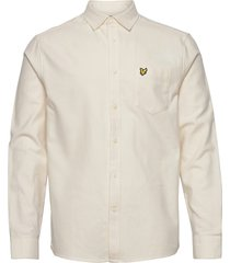brushed twill shirt overhemd casual crème lyle & scott