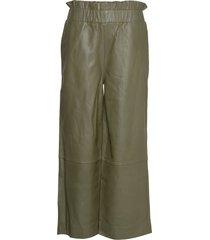 lamb leather pants leather leggings/byxor grön ganni